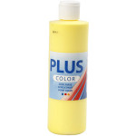 Plus Color hobbymaling, primær gul, 250 ml