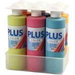 Plus Color hobbymaling, forskellige farver, 6x250 ml