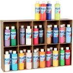 Plus Color hobbymaling, ass. farver, 30x250 ml