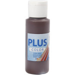 Plus Color hobbymaling, mørkebrun, 60 ml