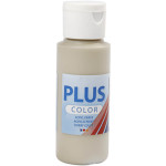 Plus Color hobbymaling, stengrå, 60 ml