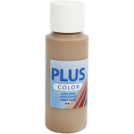 Plus Color hobbymaling, lysebrun, 60 ml