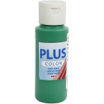Plus Color hobbymaling, brilliant grøn, 60 ml