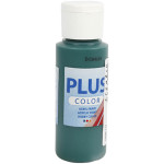 Plus Color hobbymaling, mørkegrøn, 60 ml