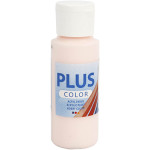 Plus Color hobbymaling, sart lyserød, 60 ml