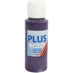 Plus Color hobbymaling, aubergine, 60 ml