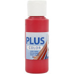 Plus Color hobbymaling, hindbær rød, 60 ml