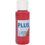 Plus Color hobbymaling, rubin rød, 60 ml