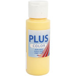 Plus Color hobbymaling, krokus gul, 60 ml