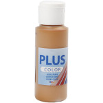 Plus Color hobbymaling, brændt sienna, 60 ml