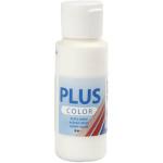 Plus Color hobbymaling, råhvid, 60 ml