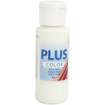 Plus Color hobbymaling, æggeskal hvid, 60 ml