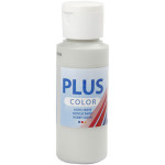 Plus Color hobbymaling, lysegrå, 60 ml