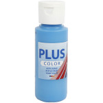 Plus Color hobbymaling, havblå, 60 ml