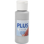Plus Color hobbymaling, sølv, 60 ml