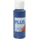 Plus Color hobbymaling, mørkeblå, 60 ml