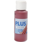 Plus Color hobbymaling, mørkerød, 60 ml