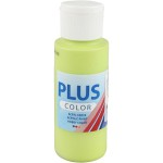 Plus Color hobbymaling, lime grøn, 60 ml