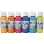 Plus Color hobbymaling, forskellige farver, 6x60 ml