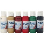 Plus Color hobbymaling,  julefarver, 6x60 ml