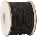 Elastiksnor, 1 mm, sort, 25 m