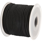 Elastiksnor, 2 mm, sort, 25 m