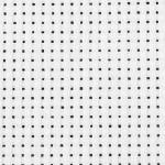 Aida stof, 50x50 cm, hvid, 1 stk.
