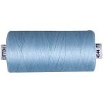 Sytråd, lyseblå, bomuld, 1000 m