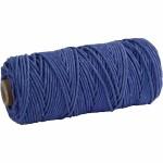 Knyttegarn, 120 m, blå, Tyk kvalitet 12/36, 250 g