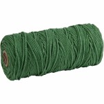 Knyttegarn, 120 m, grøn, Tyk kvalitet 12/36, 250 g