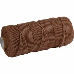 Knyttegarn, 120 m, brun, Tyk kvalitet 12/36, 250 g