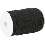 Knyttegarn, 120 m, sort, Tyk kvalitet 12/36, 250 g