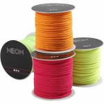 Imiteret faldskærmssnor, 4 mm, neonfarver, 4x40 m
