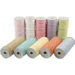 Paperyarn - sortiment, 1,8 mm, pastel farver, tynd, 10x250 g