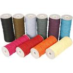 Paperyarn - sortiment, 1,8 mm, stærke farver, tynd, 10x250 g