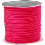 Knyttesnor, 1 mm, neon pink, 28 m