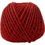 Paperyarn, 2,5-3 mm, rød, 150 g