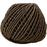 Paperyarn, 2,5-3 mm, mørk brun, 150 g