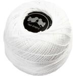 Merceriseret bomuldsgarn, hvid, 20 g