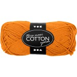 Bomuldsgarn, 80-85 m, orange, maxi, 50 g