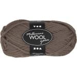 Melbourne uldgarn, 92 m, grå brun, 50 g