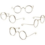 Briller, 50 mm, guld, 10 stk.