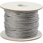 Snor, 2 mm, sølv, 50 m