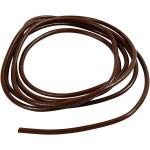 Lædersnøre, 4 mm, brun, 2 m
