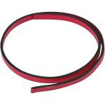 Imiteret læderbånd, 10 mm, pink, 1 m