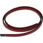 Imiteret læderbånd, 10 mm, rød, 1 m