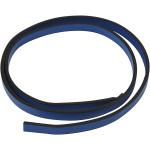 Imiteret læderbånd, 10 mm, blå, 1 m