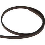 Imiteret læderbånd, 10 mm, brun, 1 m