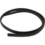 Imiteret læderbånd, 10 mm, sort, 1 m