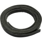 Læderbånd, ægte læder, sort,  B. 10 mm, L. 2 m